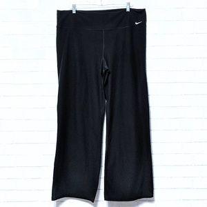 Nike: Black Dri-Fit Workout Exercise Pants